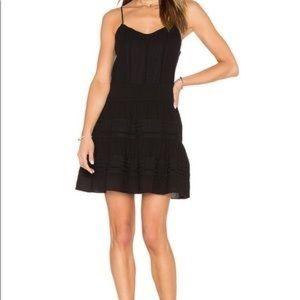 Frame black mini cotton lace panel dress SZ L